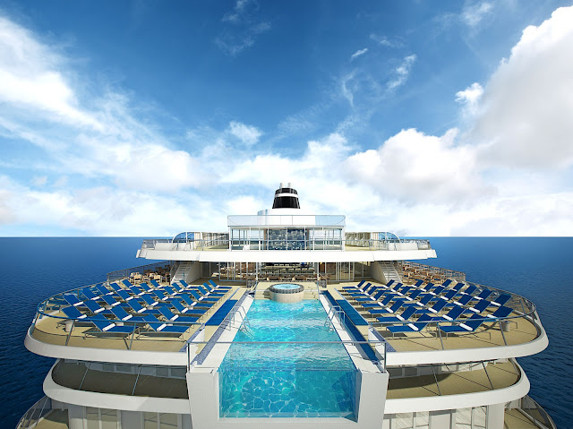 Viking Ocean Cruises will feature the industry's FIRST-EVER infinity pool aboard the Viking Star. All photos: © Viking Cruises. Unauthorized use is prohibited.