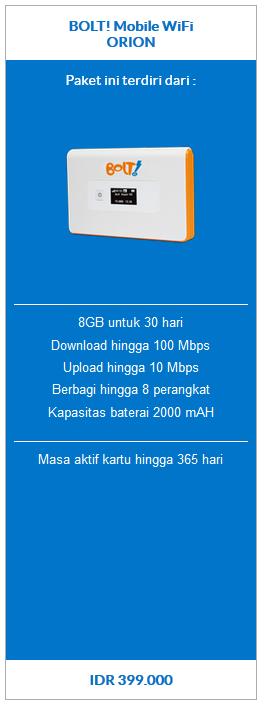 BOLT! Mobile WiFi ORION