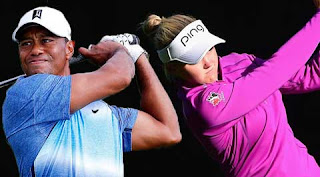 Tiger Woods and Brooke Henderson