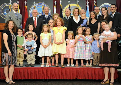 General Keith Alexander - displays his whole family