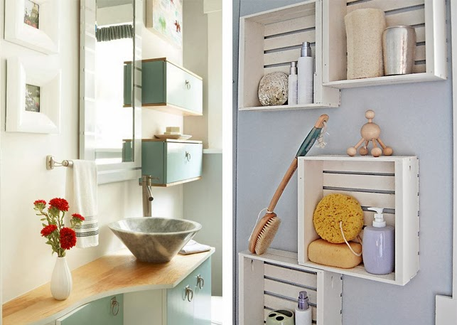 bathroom wall-mounted shelving inspiration