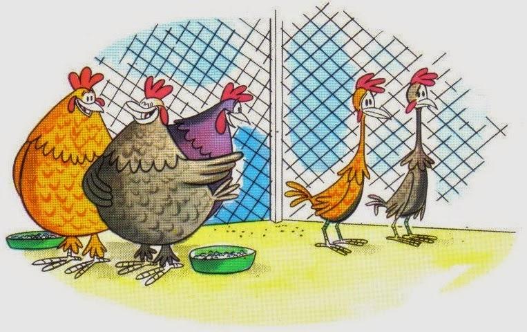 fabula las gallinas gordas y las flacas