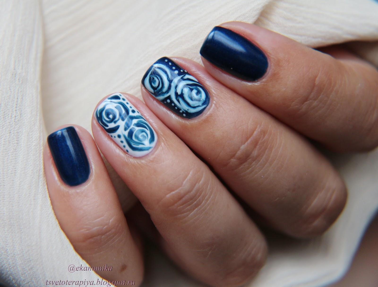 Дизайн ногтей по сырому гель лаку