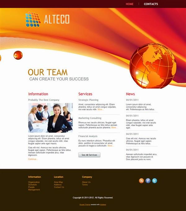 Alteco - Free Drupal Theme
