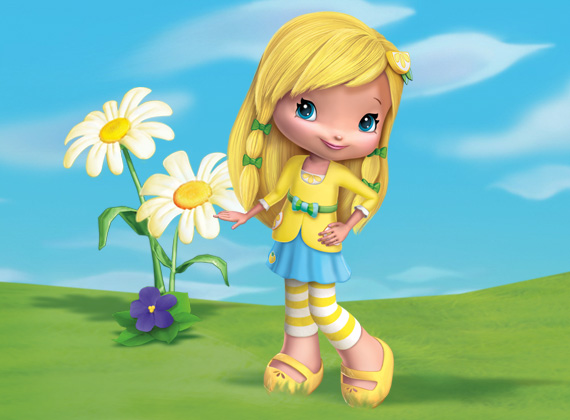 Nama Nama Stawberry Shortcake on lemon cartoon character