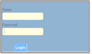 login html/css code