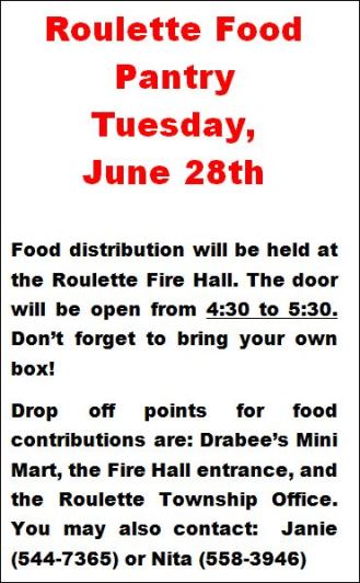 6-28 Roulette Food Pantry