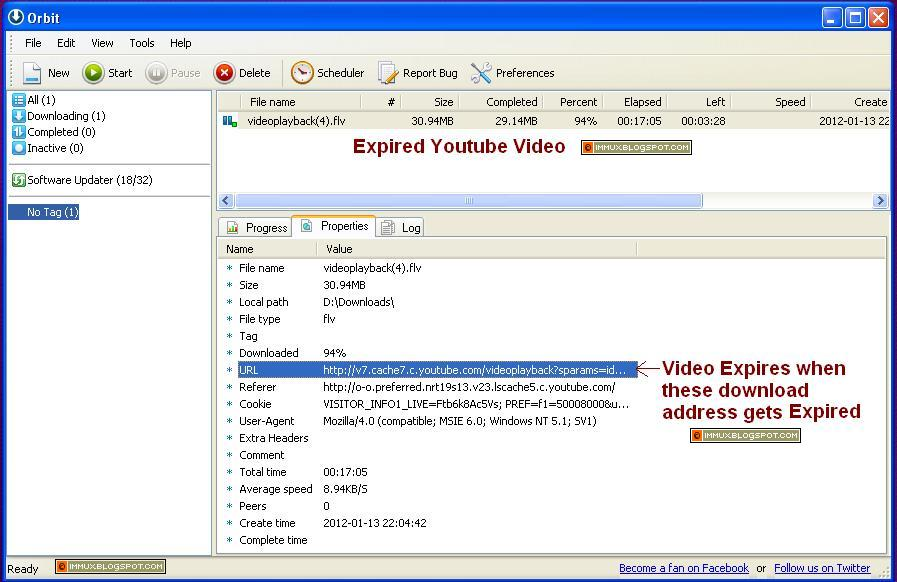 resume expired youtube video in orbit downloader   immux