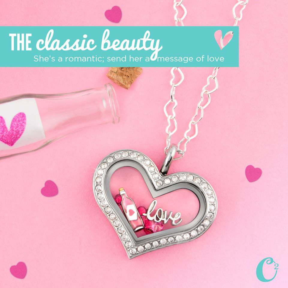 The Classic Beauty Origami Owl Heart Living Locket - Com create yours today at StoriedCharms.com