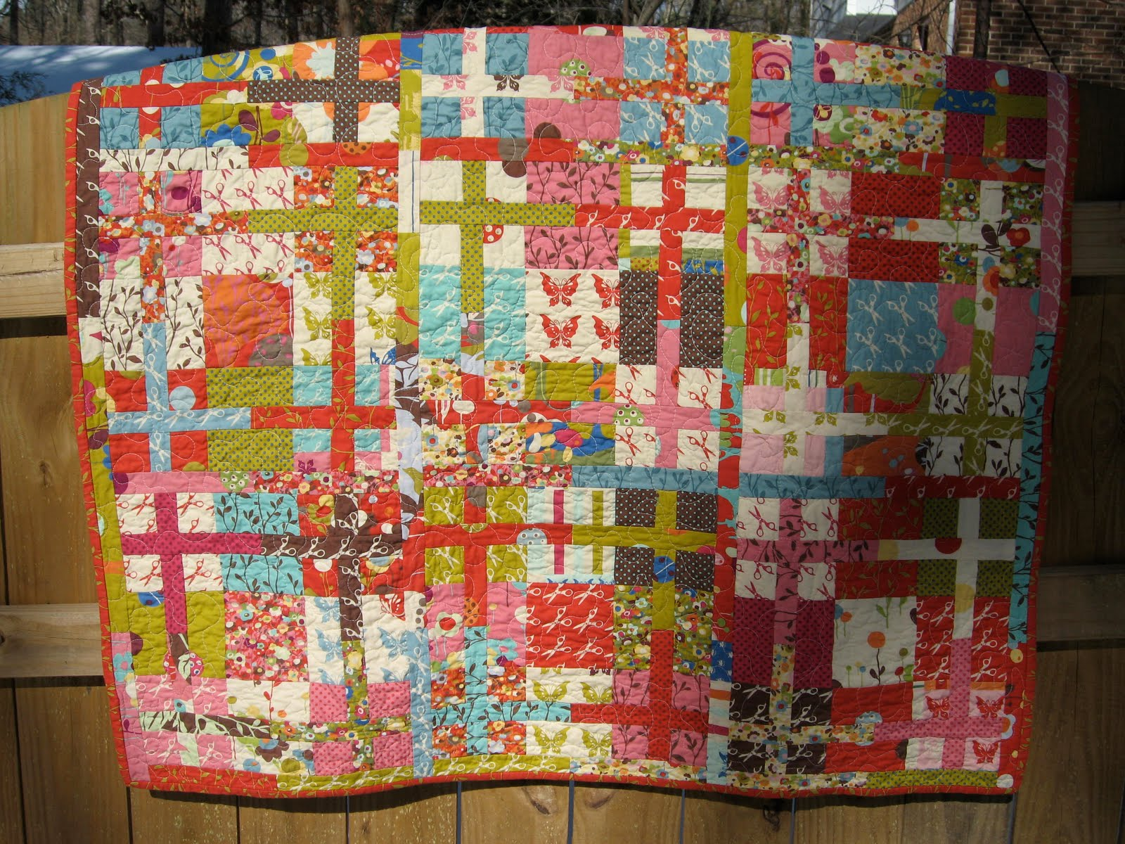 Quilting Grid Patterns : Quilt Inspiration: Free Pattern Day: Plus and X quilts