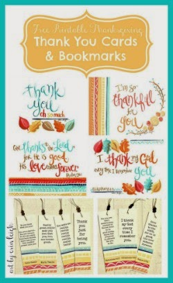 Free Printable Thank you Cards & Bookmarks