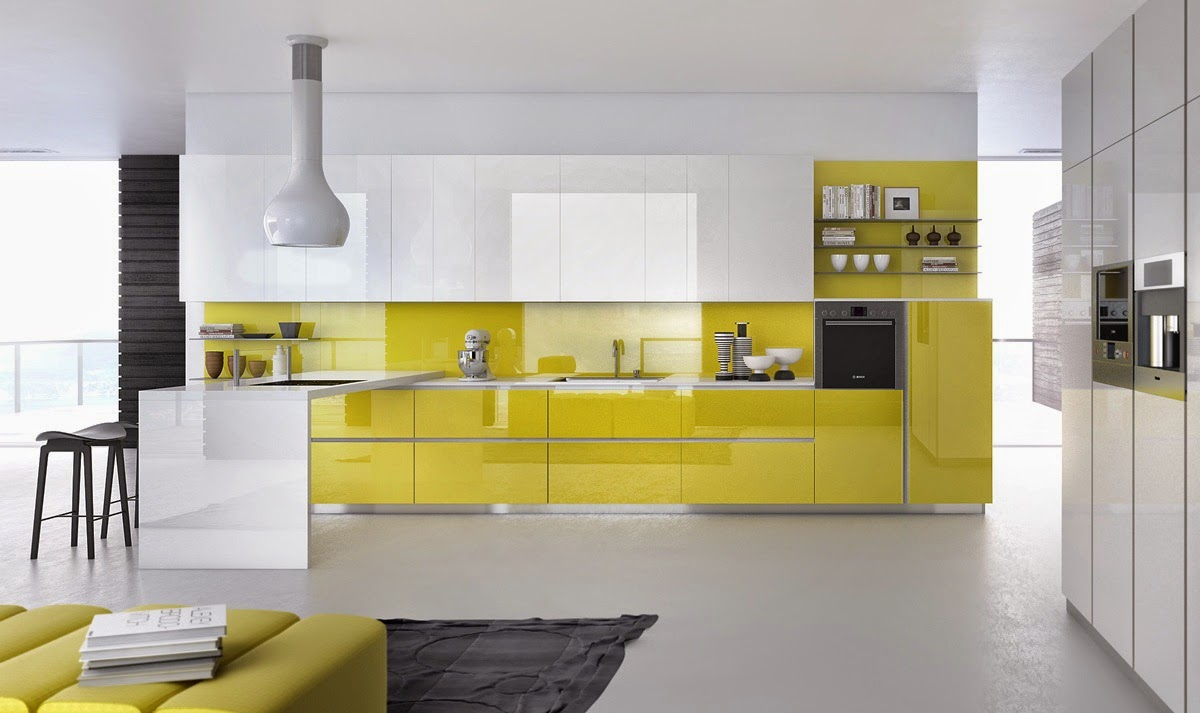 Muebles de cocina con colores combinados - Cocinas de colores ...