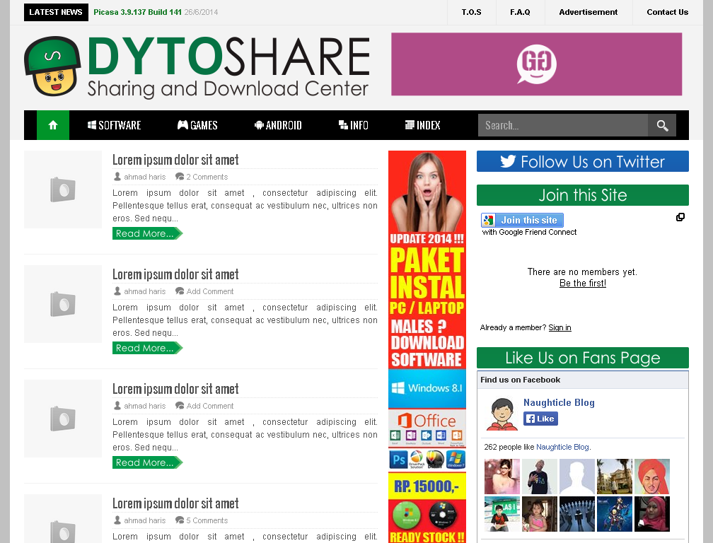 Template Kloning DYTOSHARE.us - Sharing and Download Center