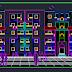 مشروع عمارة سكنية (R+4) اوتوكاد DWG