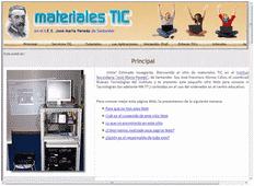 Web de Materiales TIC del centro