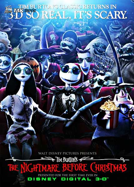 The Nightmare Before Christmas 1993 3D Movies BluRay 1080p