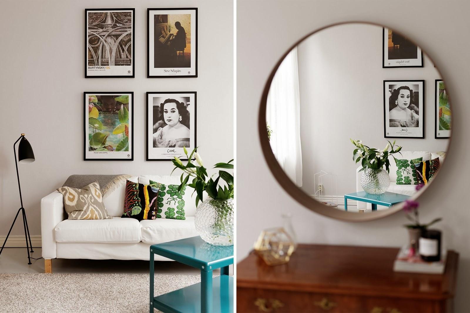 Our very first apartment kolor roku 2014 - Quadri a specchio moderni ...