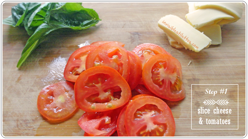Cheesy Tomato Basil Sandwich