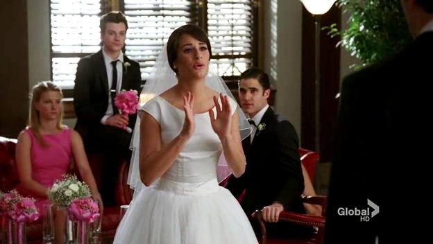 Glee Rachel And Finn Wedding