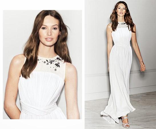 vestido largo de fiesta H&M primavera verano 2014