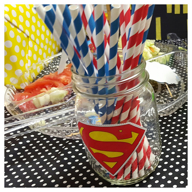 diy superhero mason jars, superhero party decorations, eventsojudith