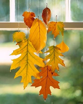 móvil hojas secas