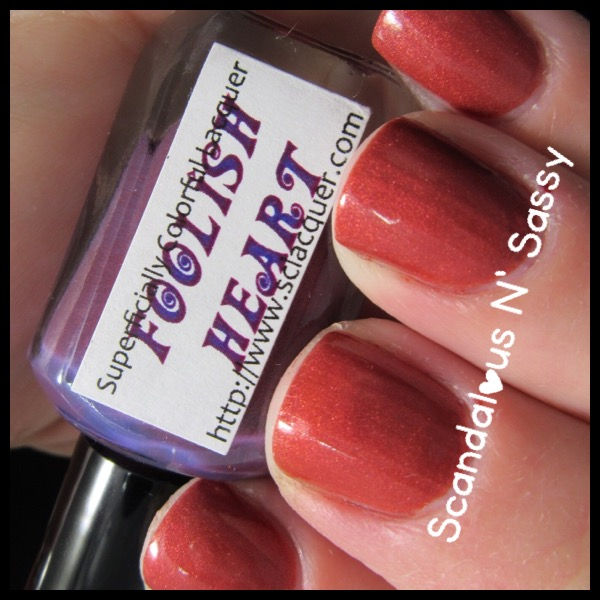 Superficially Colorful Lacquer Foolish Heart thermal warm state