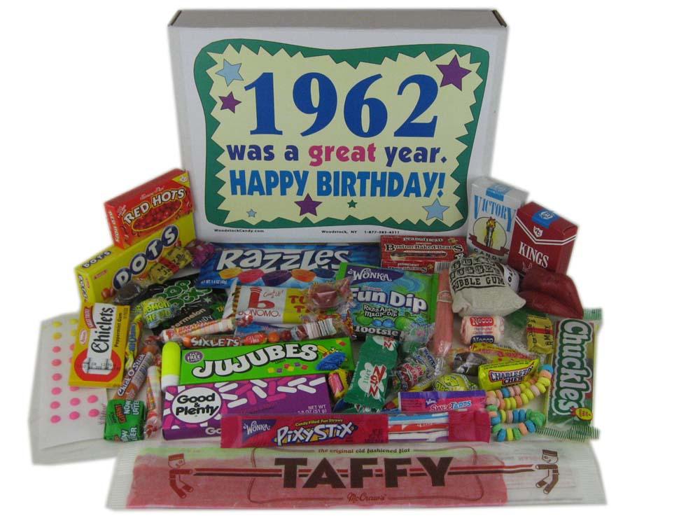 50th birthday candy basket