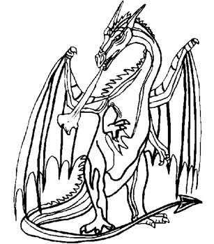 Coloriage dragon a imprimer : dessin dragon coloriage dragon ...