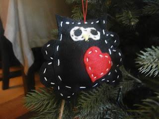 χριστουγεννιάτικη κουκουβάγια 1