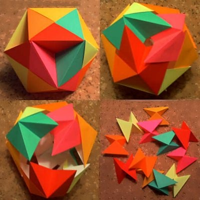 3d origami ball instructions