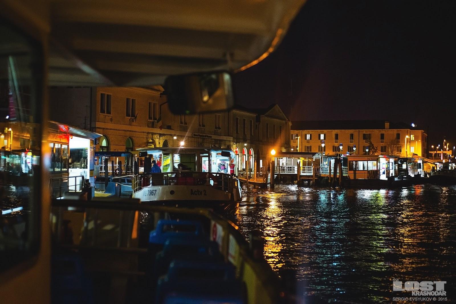 Путешествие на вапоретто в Италии