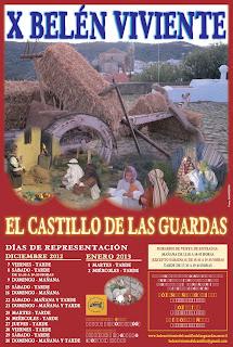 Cartel del Belén Viviente en Castillo de las Guardas 2012