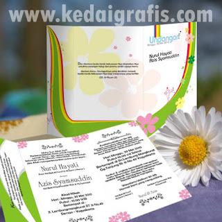 contoh desain kartu undangan nikah: