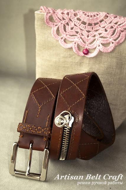 упаковка кожаного ремня для женщины