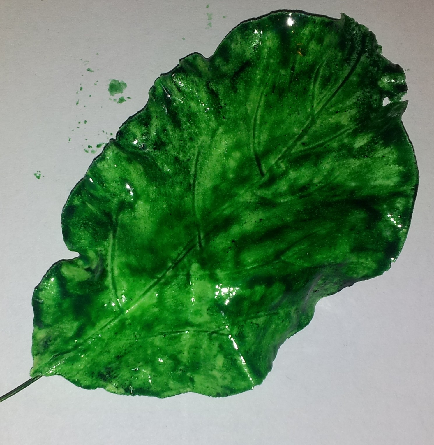 fondant leaf