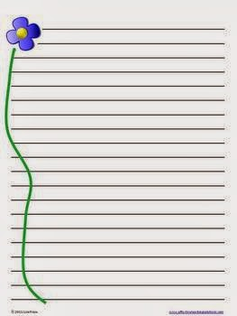 Spring Handwriting Paper