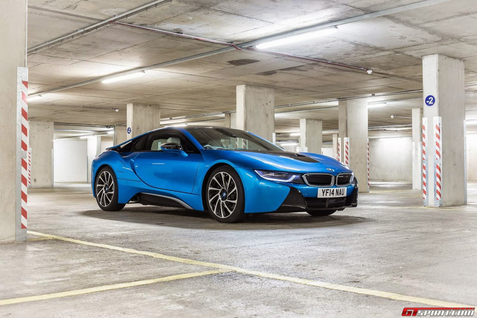 BMW i8 Blue HD Wallpaper
