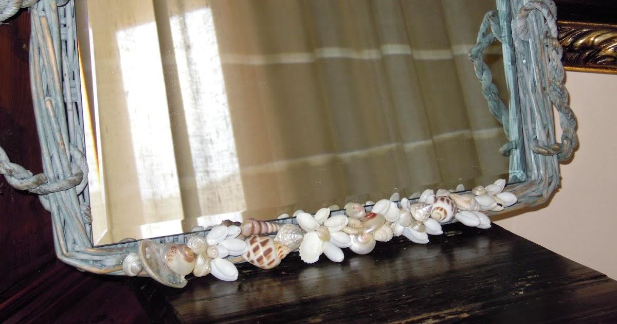 Biancafiore cestini - Specchio con conchiglie ...