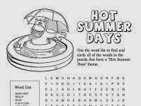 Summer Word Search Printable Worksheets