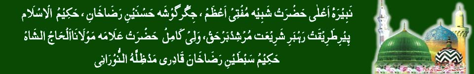 Naberaye Aala Hazrat,  Huzoor Ameen e Shariat Hazrat Sibtain Raza Khan Quadri Maddazillahul Noorani