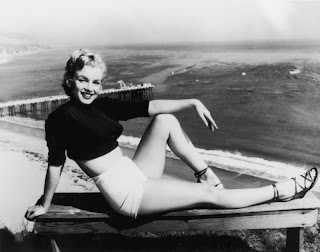 Marilyn Monroe on beach