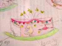 Giffords Circus Cake Sketch