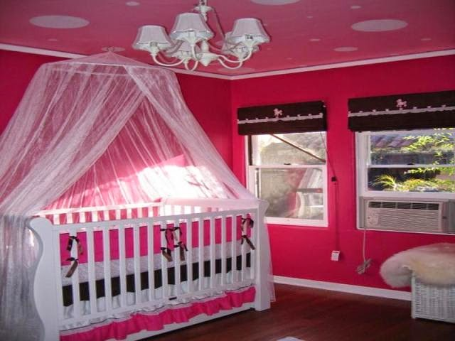 Baby nursery wall paint ideas Infant girl room ideas