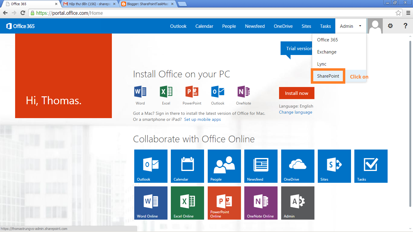 Office 365 And SharePoint 2013 Online Register Configuration Step By