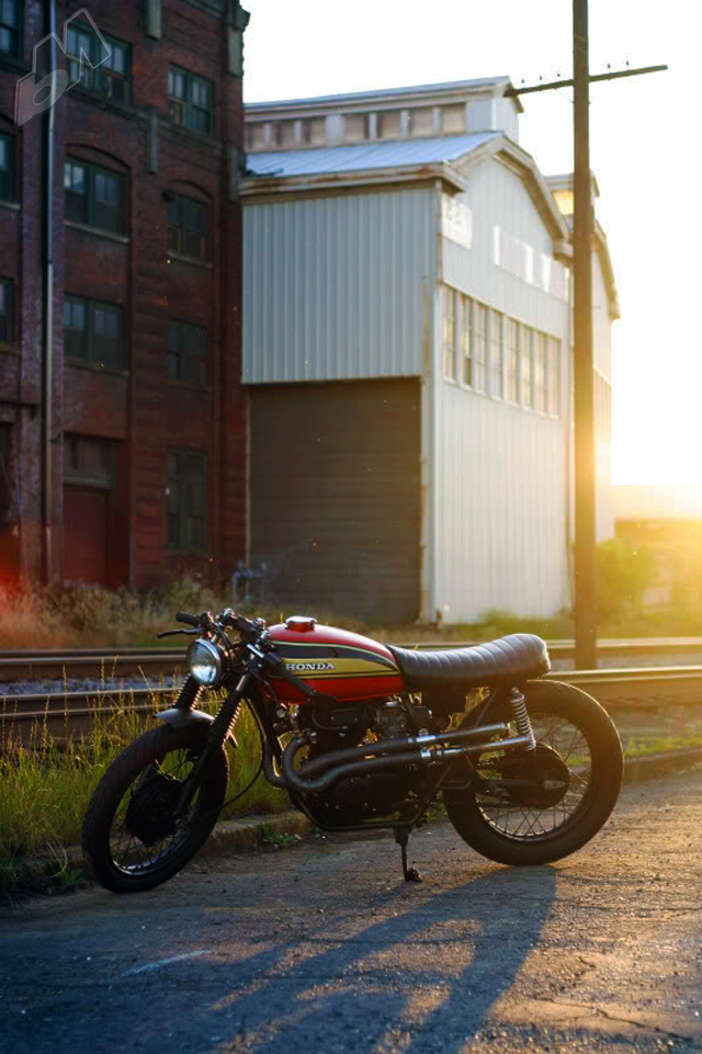 honda 360 cafe racer. little honda cl360 cafe by
