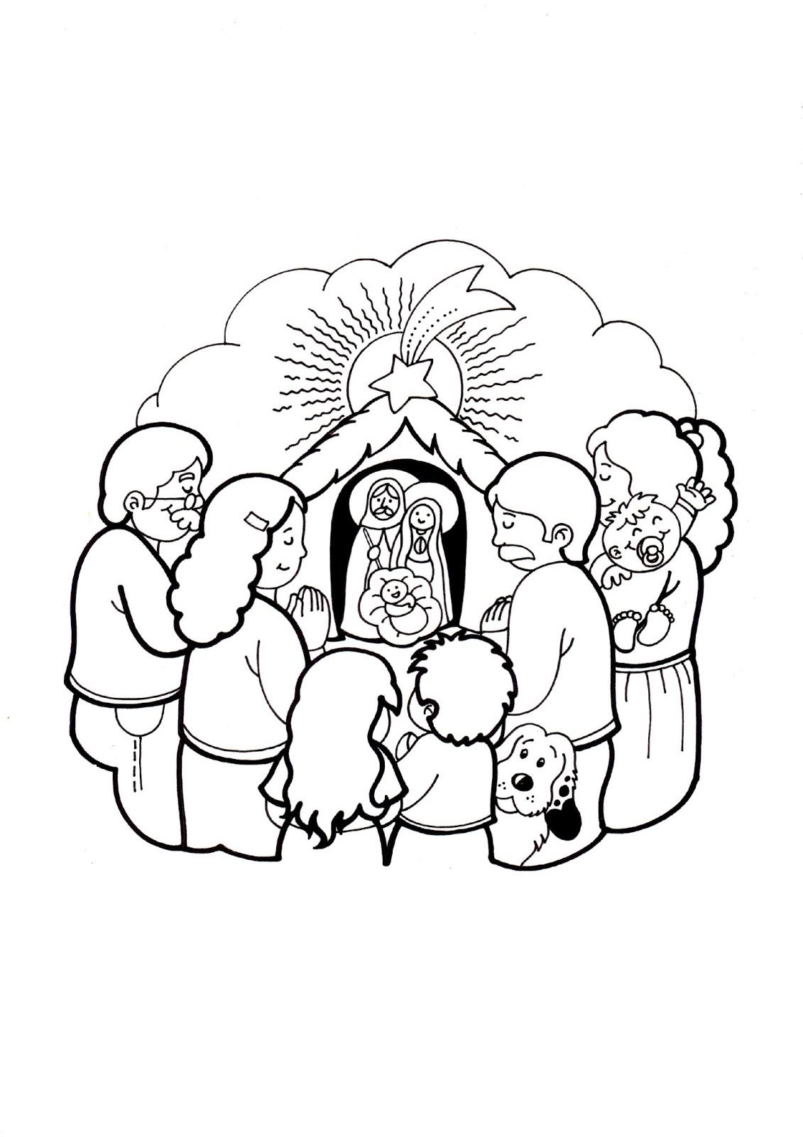 El Rincón de las Melli: DIBUJO: Familia rezando ante el ...