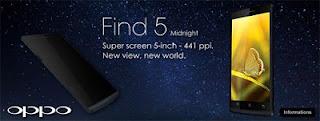 Oppo Find 5 Midnight 32GB Resmi Dijual di Indonesia