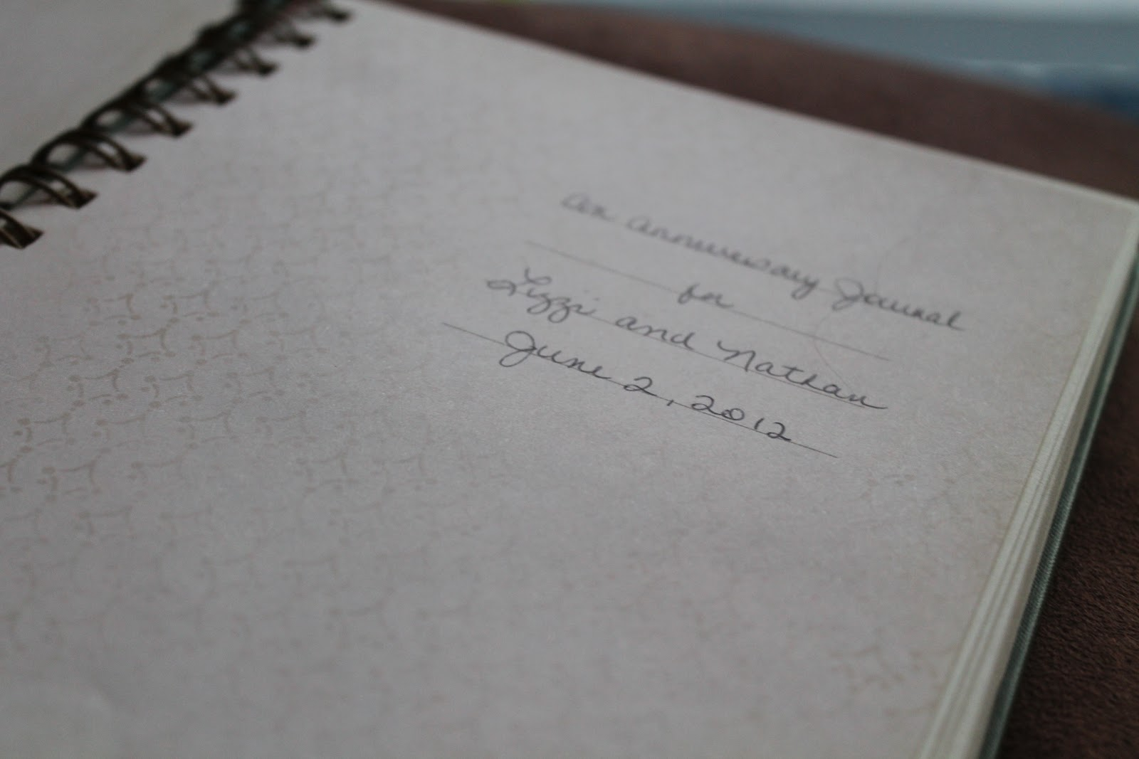 This journal was wrapped with a beautifully written letter. Because I ...
