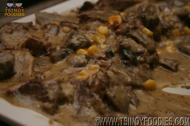 Ox-Tongue Cream of Mushrooms and Corn